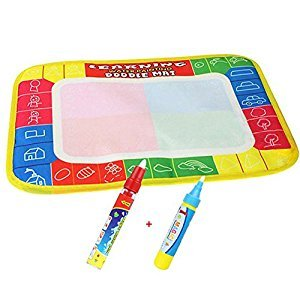 xhforever 4 Color Drawing Board Water Painting Mat Doodle Mat Baby Play Mat Early Learning Educational Toys for Children Kids Gift