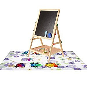 Artist Kids Painting Drop Cloth /art drop cloth /paint drop cloth canvas /canvas drop cloth Washable with Flower Pattern for Art Easel