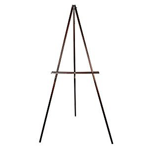 CONDA Wooden Tripod Display Floor Easel & Artist Easel, Adjustable Tray Chain Pine Brown Wood