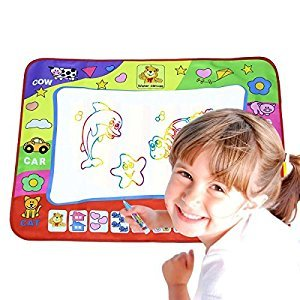 Painting Mat for Kids, Colorful Aqua Doodle Water Drawing Mat for Children, Writing Doodle Board & 2 Magic Water Pens as a Toy Gift 31.5