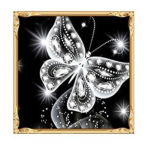 ULTNICE 5D DIY Diamond Embroidery Painting Cross Stitch Printing (Butterfly)