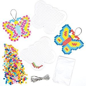 Butterfly Fuse Bead Kits for Children to Design Make and Display (Pack of 6)