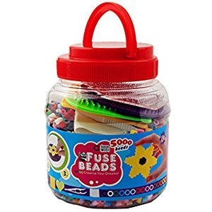 Fuse Beads 5,000 Count Bucket MIDI beads 15 colors Multi Mix