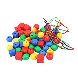 LAIMALA Colourful Beads Kits Handmade DIY Craft Toys for Kids Color Shape Recogize Learning