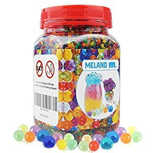 Meland Water Beads - Medium Size 26,400 Beads Reusable for Spa Refill Sensory Toys Colorful Décor and Outdoor Play