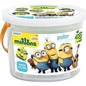 Perler Beads 80-42922 Minions Perler 6000 Bead Activity Bucket, Yellow by STAR-MOON TOYS (HK) COMPANY LTD
