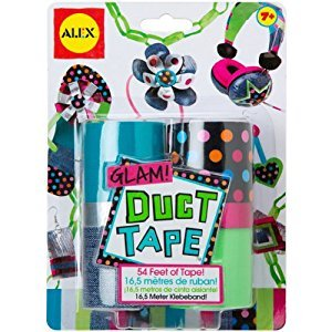 ALEX Toys - Do-it-Yourself Wear! Glam Duct Tape Fashion Craft Kit, 760G