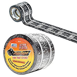 BAC09102 09102 T&F 30'x2 Train Track Playtape