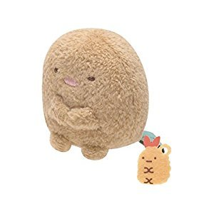 San-x Sumikko Gurashi Plush 2'' Tonkatu w/ Mini Fried Shrimp