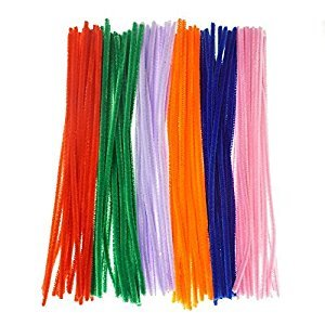 Bilipala Chenille Stems, Pipe Cleaners, DIY Crafts, 12 Inch, 120 Count, Assorted Color