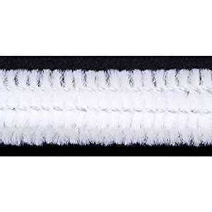 Chenille Stems - 12mm - White - 12 pieces (1 Pack)