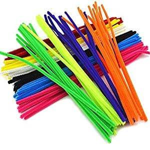 ROSENICE Chenille Stems Craft Pipe Cleaners for DIY Craft Projects / Wedding / Party / Holiday Decoration - 150 Pieces
