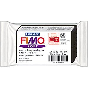 Staedtler 8022-9 LU Fimo Soft Oven-Bake Clay 8oz-Black