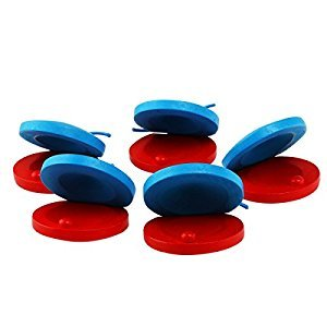 Tinksky Baby Wooden Castanet Musical Instrument Toy Pack of 5(Red+Blue)