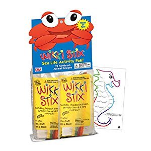 Wikki Stix Sea Life Activity Pak, 12 individual Fun & Educational Favors