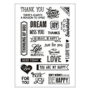 Lanlan Clear Stamps for DIY Scrapbooking Craft Card Kindergarten Teacher Prizes Stamps to Kids Party Favor Toy Gift thankyou