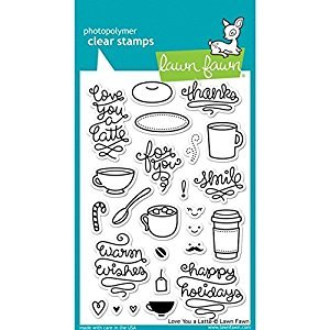 Lawn Fawn Clear Stamps - Love You a Latte Stamps by Lawn Fawn