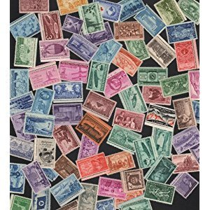 STAMP COLLECTING! BIG lot of 75 Vintage Commemorative Collectible US Postage stamps - All Stamps are New, Mint Condition ~ Very Nice Stamps!! Each Packet is different! (Reference Picture only) by Issued by the United States Postal Service.