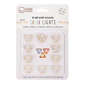Chibitronics Circuit Stickers - Red, Yellow, Blue Megapack