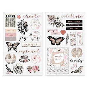 Prima Marketing Amelia Rose-Chipboard Stickers