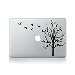 Tree With Bird Flying Cartoon Character Decal Sticker for Macbook Laptop Air Pro Retina 13 14 15 Inch Cool