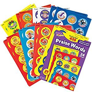 Trend T6490 Trend Stinky Stickers Variety Pack, Praise Words, 432/pack