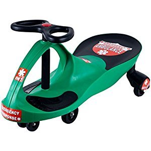 Lil' Rider 80-1288GR Responder Ambulance Wiggle Ride-On Car, Green