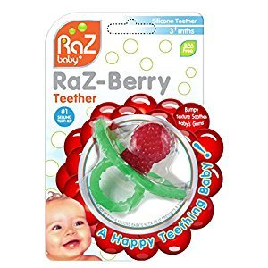 RaZbaby RaZ-Berry Teether, Red