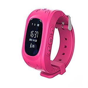 Children Safety Tracker Kids Anti-lost Smart Phone GPS Watch For Android/IOS pink