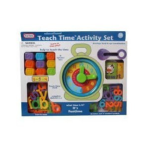 Teach Time Activity Set with Alphabet Clock, Blocks Learning Toy by Funtime