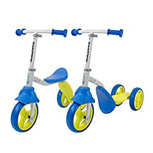 K2 Toddler 3 Wheel Scooter & Ride-On Balance Trike 2-in-1 Adjustable for 2, 3, 4, 5 Year Old Kids Boy or Girl Transforms In Seconds (Blue)