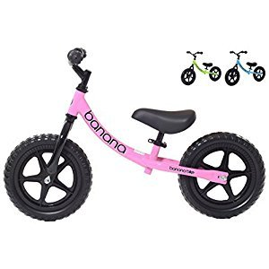 Balance Bike for Kids - 2, 3 & 4 Year Olds - Lightweight 2017 Banana Bike LT (Pink)