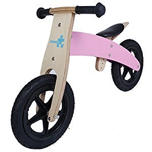 Labebe - Wooden Balance Bike With Adjustable Seat(Pink)