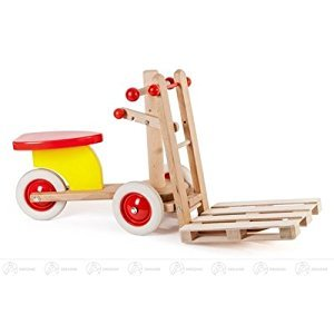 Toy sander fork-lift truck width x height of x depth 70 cmx39,5 cmx28 cm ore mountains wood car