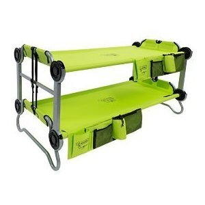 Disc-O-Bed Youth Kid-O-Bunk with Organizers, Lime Green