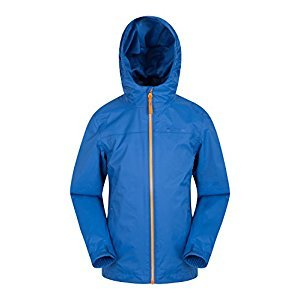 Mountain Warehouse Torrent Kids Jacket - Waterproof Rain Coat Blue 5-6 years