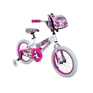 Dynacraft 8054-65TJ Decoy Girls Camo Bike, 16-Inch, White/Pink/Black