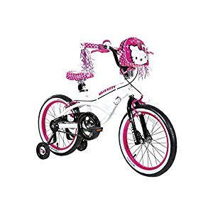 Dynacraft Hello Kitty Girl's Bike, White, 18-Inch