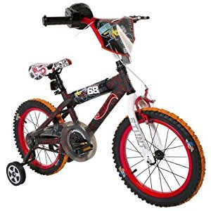 Dynacraft Hot Wheels Boy's 16-Inch Bike, Black/Red/Orange