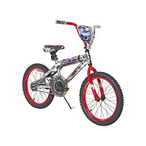 Hot Wheels 8094-41TJ Boys Dynacraft Bike with Turbospoke, Silver/Red, 18