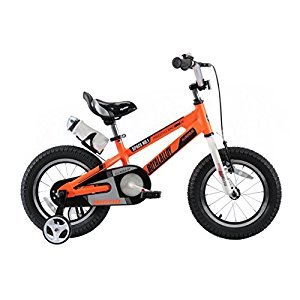 RoyalBaby Space No. 1 Aluminum Kids Bikes,  Boy's Bike and Girl's Bicycles, Gift for Kids, 14 inch wheels, Orange