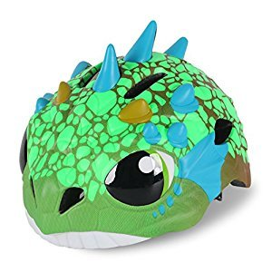 Cute Dinosaur Green Toddler Kids Children Multi-sport Outdoor Light-weight Cycling Bike Safety Helmet Cute Head Protective Gear with Adjustable Dial for Boys Girls Age 3-4 5-7