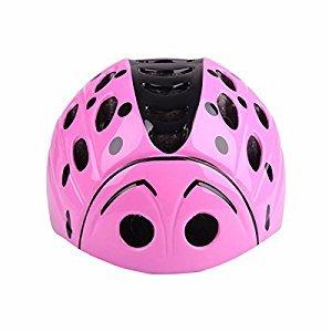 Kids Child Children Toddler Pink Beetle Bicycle Cycling Bike Helmet - Safety Protection Ultralight Sport Bike Skateboarding Skate Inline Skating Rollerblading Helmet for youth boy girl Student Pupil