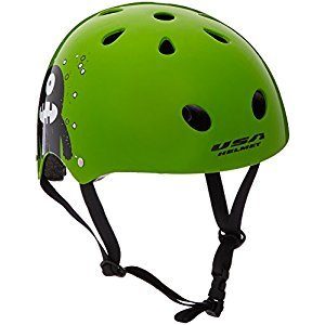 USA Helmet V-11 Child Bicycle Helmet, Green Monster