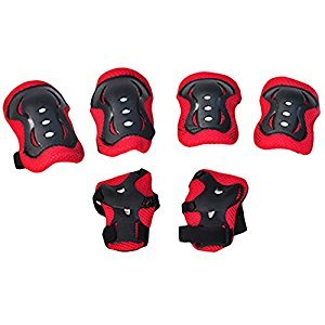 Fansport 6PCS Kids Protective Pads Sport Protective Gear Wrist Pads Knee Pads Elbow Pads for Skateboarding Cycling