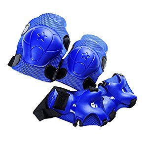 Kid Cycling Roller Skating Knee Elbow Wrist Protective Pads - Dark Blue
