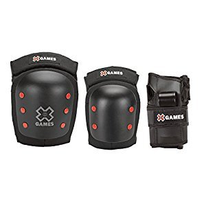 X-Games Big Air Pro Deluxe Youth Elbow, Knee and Wrist Pad Set