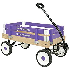 Berlin Amish-Made Pee-Wee Flyer Wagon Ride on, Purple