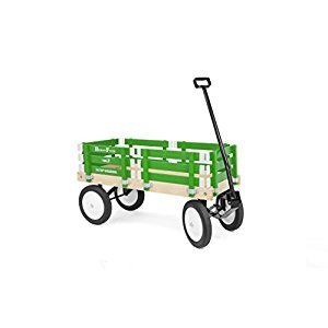 Berlin F310 Amish-Made Flyer Ride-On Wagon, Emerald Green