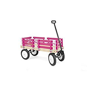 Berlin F310 Amish-Made Flyer Ride-On Wagon, Hot Pink